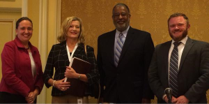 Left to Right: Michelle Olsen, Judge Carolyn McHugh, Judge Andre Davis, Steven Klepper
