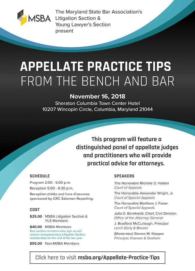 Flyer for Appellate Program