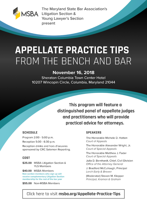 Flyer for Appellate Program
