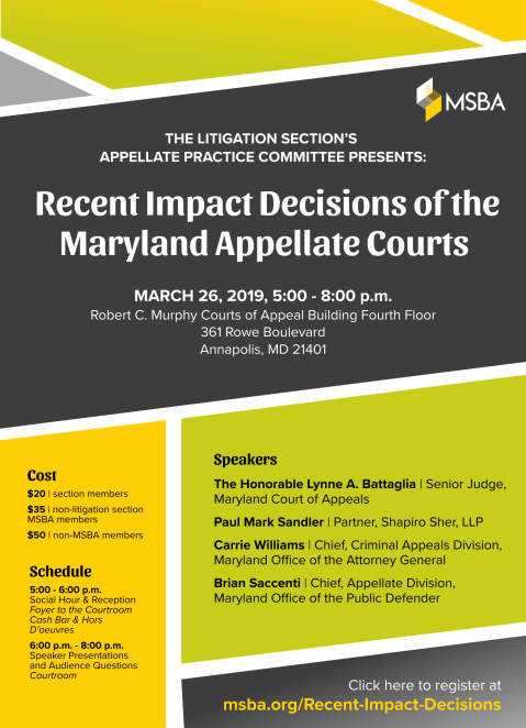 Maryland impact decisions